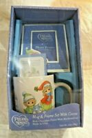 Precious Moments 2010 New Mug Picture Frame Set Rich Chocolate w Marshmallow