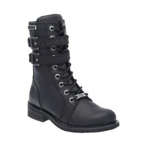 Harley-Davidson® Women's Bradbrook Black Leather Motorcycle Boot D87121