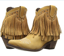 New OLD GRINGO Yippee Ki Yay Jamal Beige Brown Fringe Leather Boots Sz 7 $269