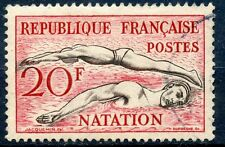STAMP / TIMBRE FRANCE OBLITERE N° 960  SPORT JEUX OLYMPIQUES HELSINKI / NATATION