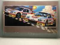 "Vintage Lincoln Mercury NASCAR Poster 38""x 21"" Art Deco Racing Art"