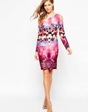 Knee Length Floral Dresses for Women with Slimming