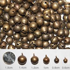 100pcs Mix Size Antique Brass Jingle Bell Pendant Chrams DIY Bracelets Necklace
