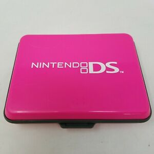 Nintendo DS Hard Plastic Carrying Case for Console, Games, Stylus - Pink, Gray