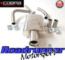 Cobra Fiesta ST 150 MK6 Exhaust System Cat Back Non Resonated LOUDER FD18/TP55