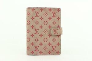 Louis Vuitton Pink Monogram Mini Lin Small Ring Agenda PM Diary Cover 545lvs611