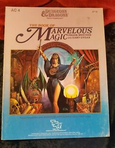 Dungeons & Dragons TSR -  The Book of Marvelous Magic - Game Spells Supplement