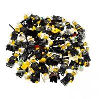5 x Lego System City Mini Figuren Polizist Polizei Police Figur schwarz mit Zube