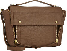 3.1 Phillip Lim Pashli Leather Messenger Satchel Bag in Taupe