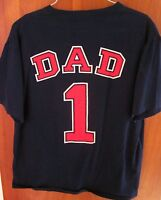 CLEVELAND INDIANS lrg T shirt baseball All-Star Dad tee #1 Father's Day