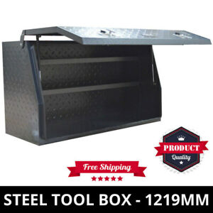 Steel Toolbox Diamond Plate 1219mm Heavy Duty ToolBox One Tonner With Full Door