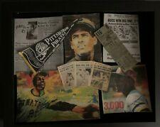 """CUSTOM"" ROBERTO CLEMENTE PITTSBURGH PIRATES CAREER SHADOW BOX #2"