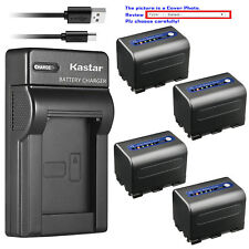 Kastar Battery Slim USB Charger for Sony NP-QM71D & Cyber-shot DSC-F828 DSC-R1