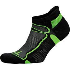 Balega Ultra Light Second Skin No Show Running Socks - Black/Lime