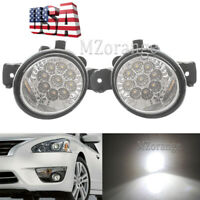 LED Fog Lights for Nissan Altima Maxima Pathfinder Rogue Sentra For Infiniti