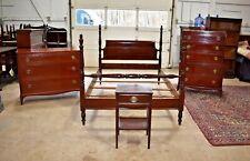 Antique Mahogany Bedroom Set, Full Queen