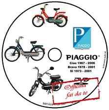 MANUALE OFFICINA PIAGGIO CIAO BRAVO SI 50cc WORKSHOP MANUAL SERVICE CD DVD
