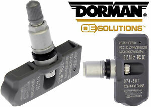 Dorman 974-301 Programmable TPMS Tire Pressure Monitoring System Sensor New USA