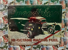 Rat Rod Drag Strip - Tin Metal Wall Sign