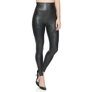 SPANX Women's Ready to Wow Faux Leather Leggings Style 2437