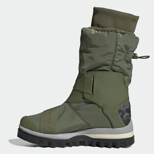 ADIDAS BY STELLA MCCARTNEY WINTERBOOT G28341 Olive Green Boot Laceless