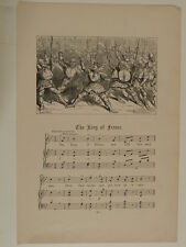 c/ vintage nursery rhyme engraving & music THE KING OF FRANCE