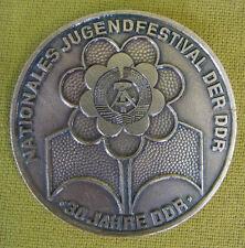 DDR Medaille - Nationales Jugendfestival der DDR - 30 Jahre DDR