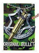 ISRAELI ARMY COMMANDO BULLET NECKLACE - IDF - ZAHAL - Defense Force