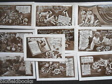 Collection of 10 Vintage Photo Birthday Cards (British Production) c1920-30s G