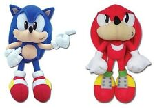 Real Official Licensed Plush SET Stuffed Toy Doll Sonic the Hedgehog & Knuckles