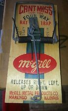 12 Vintage Can't Miss Four Way Rat Trap McGill Wood Wooden Usa New Old Stock