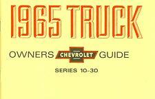 1965 CHEVROLET TRUCK  LIGHT-DUTY SERIES 10-30 OWNER'S MANUAL