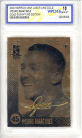 2003 PEDRO MARTINEZ Officially Licensed 23K GOLD CARD - GEM-MINT 10