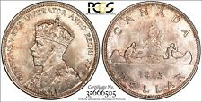 Canada 1935 Silver $1 One Dollar King George V voyager PCGS MS 65 Gold Shield