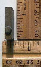 Vintage Antique Metal Printer Printing Press Block Dot Period 7858