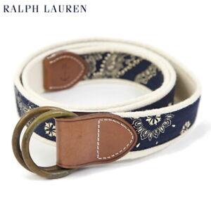 Polo Ralph Lauren Canvas Ring Belt - handkerchief print