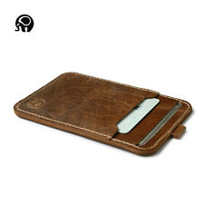 Men's Cowhide Leather Thin Wallet ID Money Credit Card Slim Holder Front Pocket