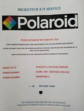 Polaroid shdv 2411-L1-D0 DVD tipo ssdv 3241-ZC01-01 Kit de reparación Eprom leer anuncio