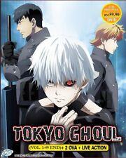DVD Anime TOKYO GHOUL Season 1-3 (1-37 End) +OVA +Movie +RE 2nd English Sub/Dub