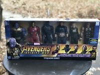"✔Marvel Avengers Infinity War Titan Hero Assembled Collection Figures 12"" 6 Pack"