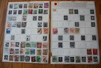 A25 Lot of Japan Stamps on 2 Minkus binder Pages
