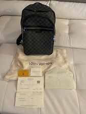 Auth LOUIS VUITTON Campus backpack Damier Infini Leather Black Men N40094 LV
