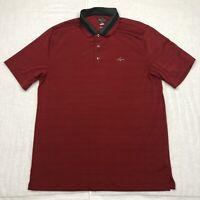 Greg Norman Polo Shirt Adult Large Red Black Golf Lightweight Shark Casual Mens