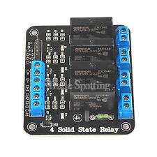 SainSmart 5V 2A 4-Channel SSR Solid-State Relay Module High Level Trigger 240V