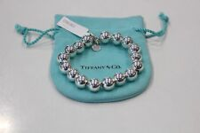 """Preowned - Tiffany & Co. Sterling Silver Beaded Ball Bead Bracelet 7"""""""