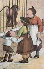 Zoo, Zoologischer Garten, Affe, Kinder mit Mutter, Scherz-AK, um 1910