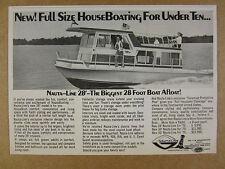 1970 Nauta-Line 28 ft Houseboat house boat photo vintage print Ad
