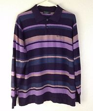 Paul Smith London Men's Polo Cashmere Wool Blend Shirt Sweater Top Striped Large