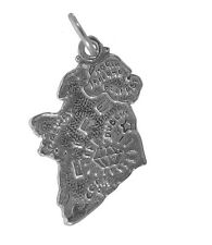 New Sterling Silver 925 Ireland Island Europe North Atlantic Eire charm Jewelry