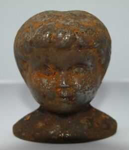 Antique Dolly Madison tin doll head mold ?